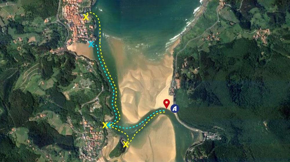 Playa de Laida - Trayecto ferry