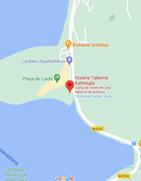 Playa de Laida - Localización