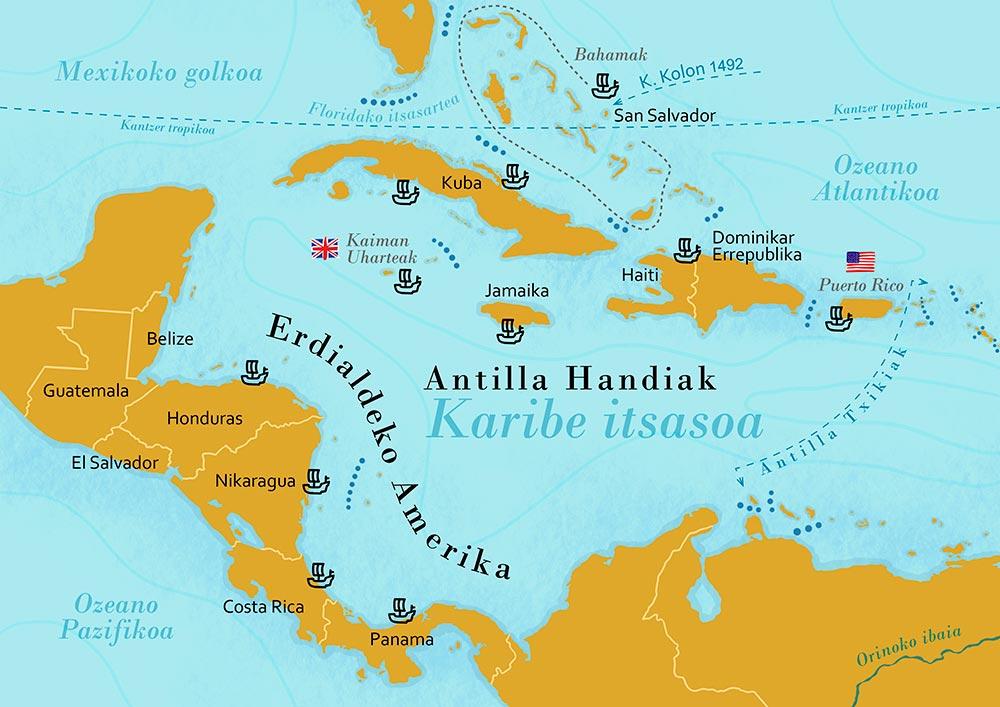 Bar Cafetería Atxarre - Mapa Antillas Mayores