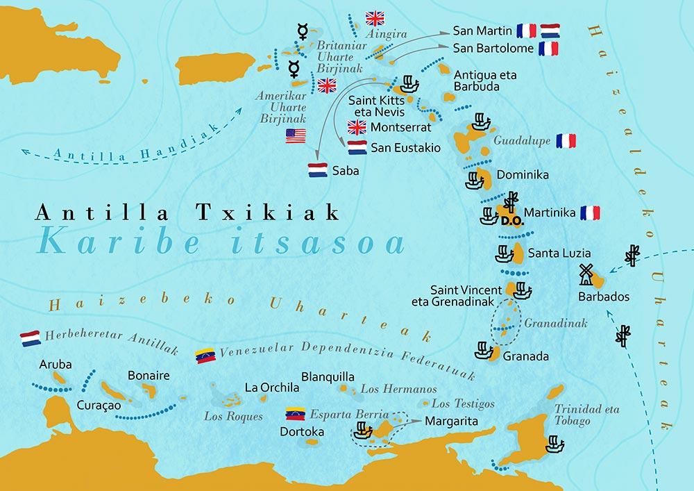 Bar Cafetería Atxarre - Mapa Antillas Menores